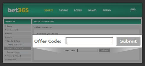 bet365 mobile offer code
