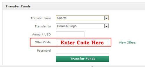 bet365 bingo offer code