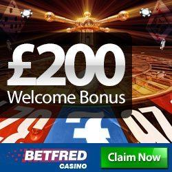 Betfred Casino Promotion Code for £200 Bonus