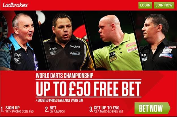 Ladbrokes Early Christmas Price Boosts – Vardy, Darts PDC & More