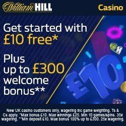 William Hill Casino Promotional Code WHC3000