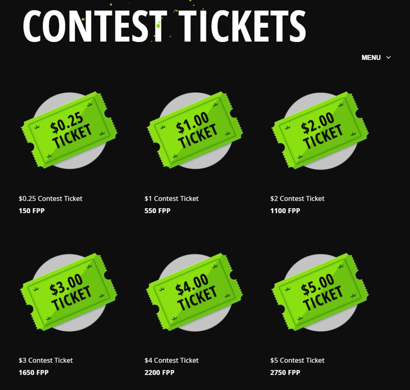 DraftKings' Store for Contest Tickets