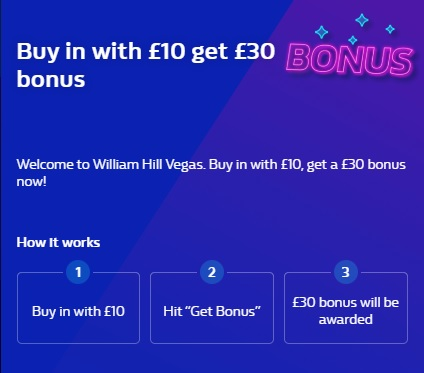 William Hill Vegas Promo Code